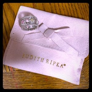 Judith Ripka Pink Crystal sterling silver and 18k